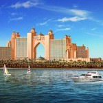 Atlantis the palm hotel from yacht