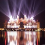 Atlantis the palm hotel lights