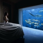 Atlantis the palm hotel suite with aquarium