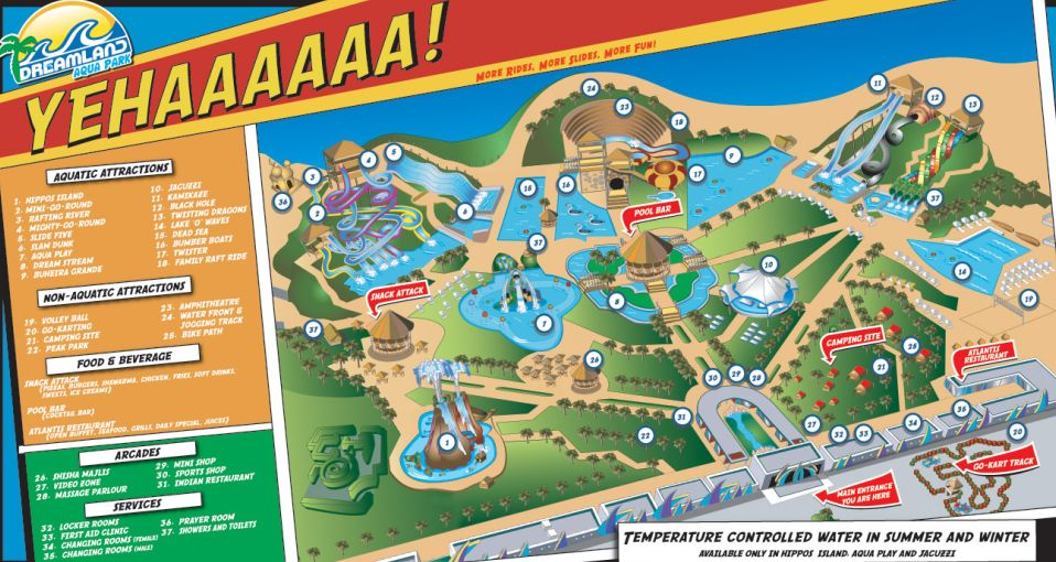 Dreamland Park Map