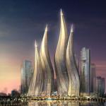 Башни в виде свечей в Дубае