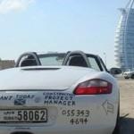 брошенные машины в городе Дубай