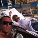 Бородина и Терехин на пляже в Дубаи