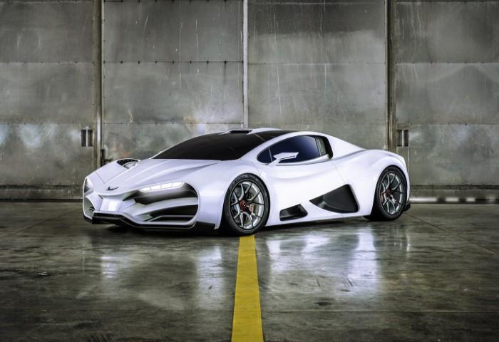 суперкар Milan Red разгоняется до 100 км/ч всего за 2,5 секунды